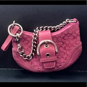 Coach Hot Pink Buckle Small Wallet